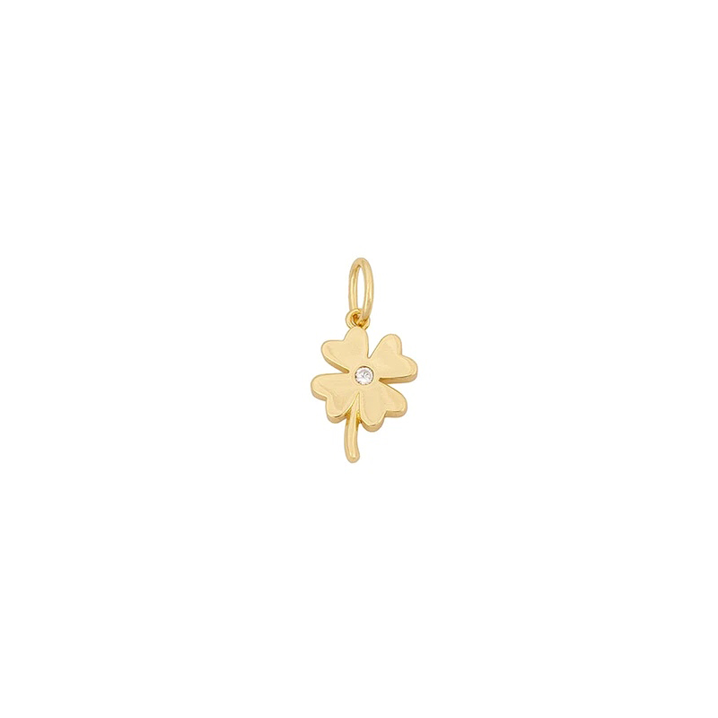 Uncommon James: Four Leaf Clover Charm - Gold