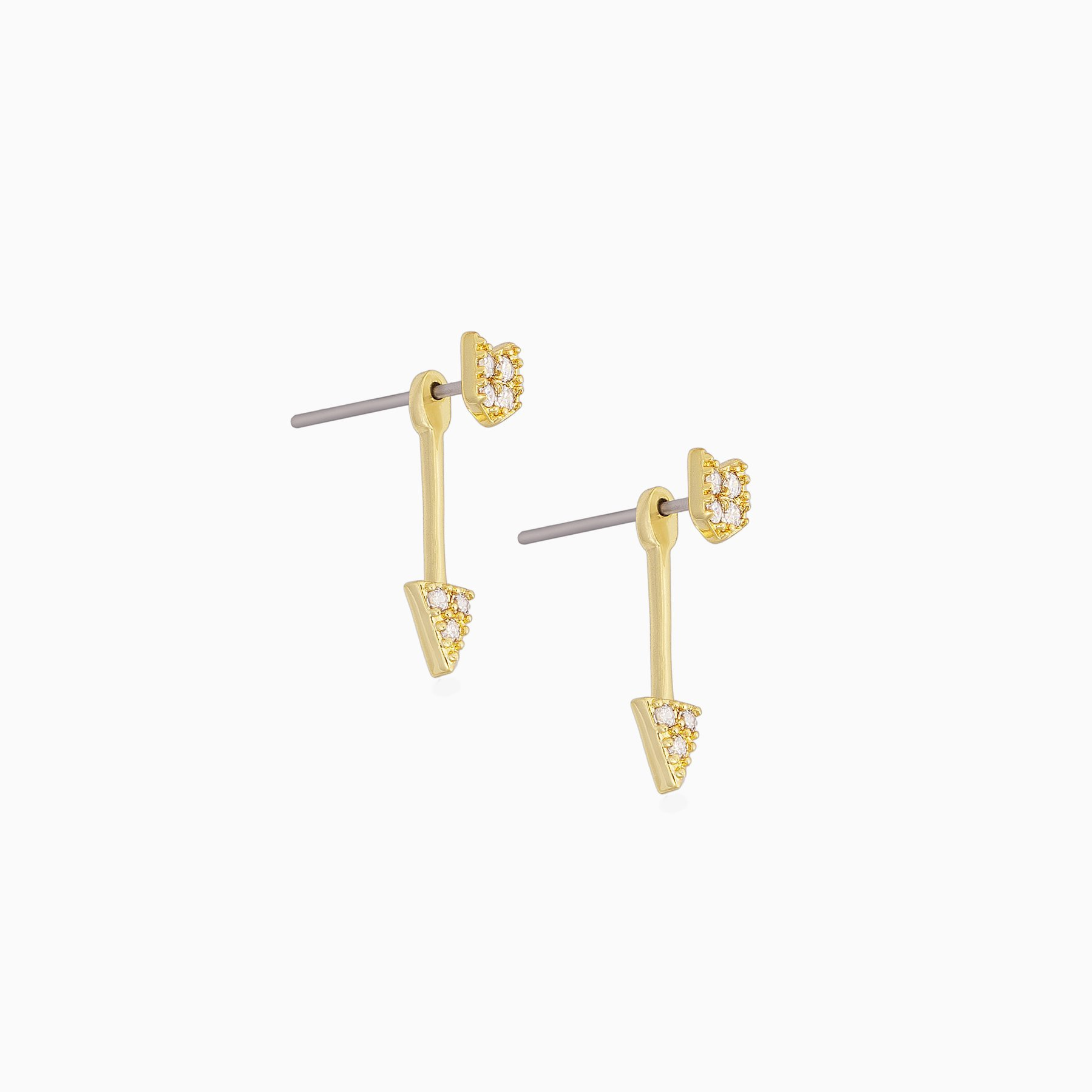 Uncommon James: On The Map Ear Jacket Earrings - Gold