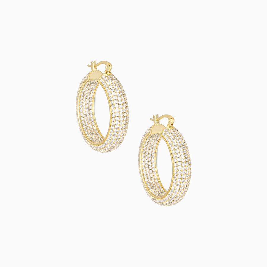 Uncommon James: Ritz Hoops Earrings - Gold