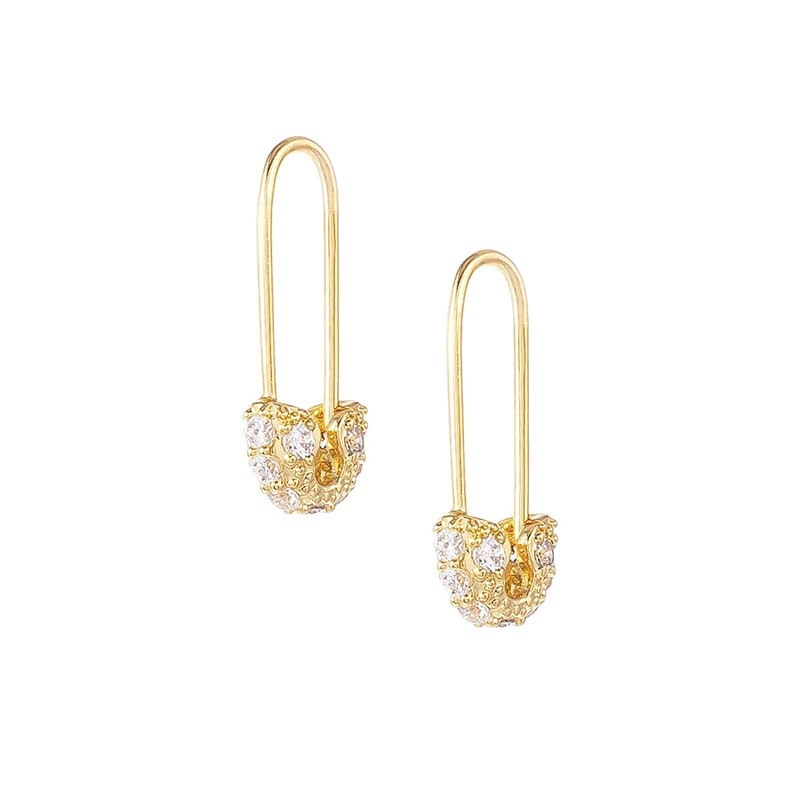 Uncommon James: Safety Pin Earrings - Gold