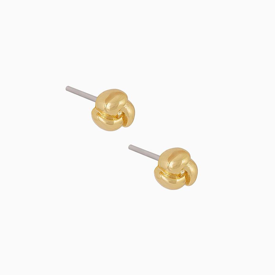 Uncommon James: Tea Rose Stud Earrings - Gold