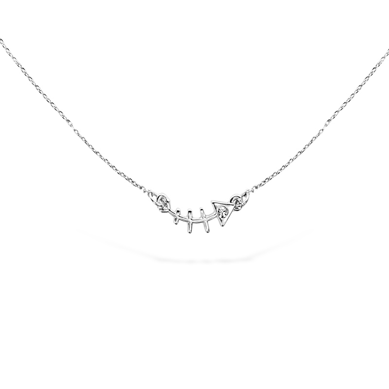 Uncommon James: Fishbone Necklace - Silver