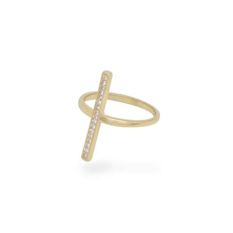 Uncommon James: Cross Me Ring - Gold